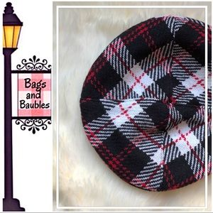 JANIE and JACK Plaid Beret, Girl's Size 6 - 8